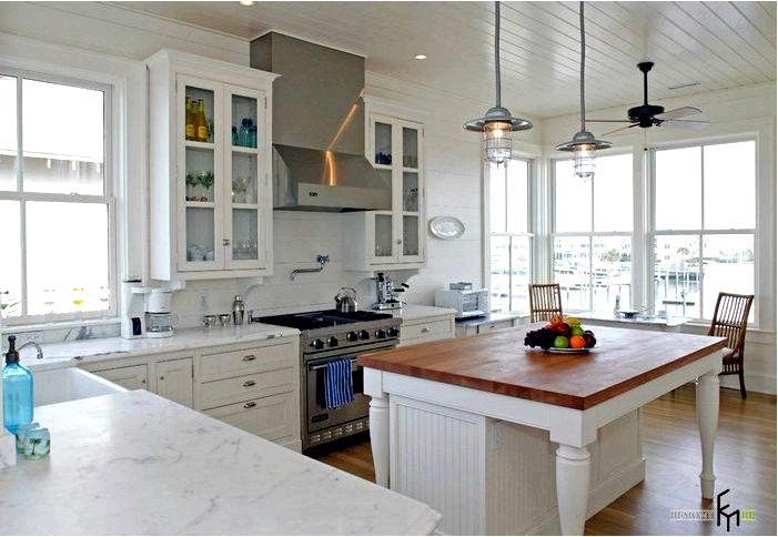 Несколько идей для белой кухонной столешницы