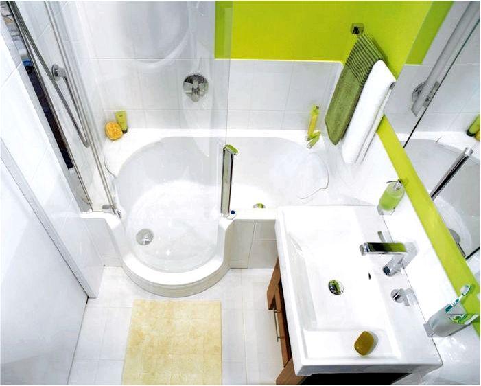 Обустройство маленькой ванной с душевой кабиной - на что назначить внимание